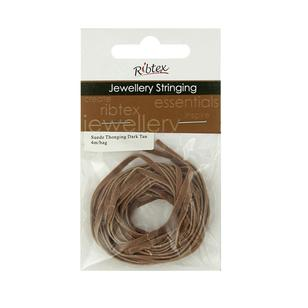 Ribtex Jewellery Stringing Suede Thonging
