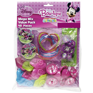 Disney 48 Piece Minnie Mouse Favours Value Pack