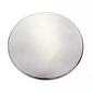 Birch Self Cover Button Silver 64 mm
