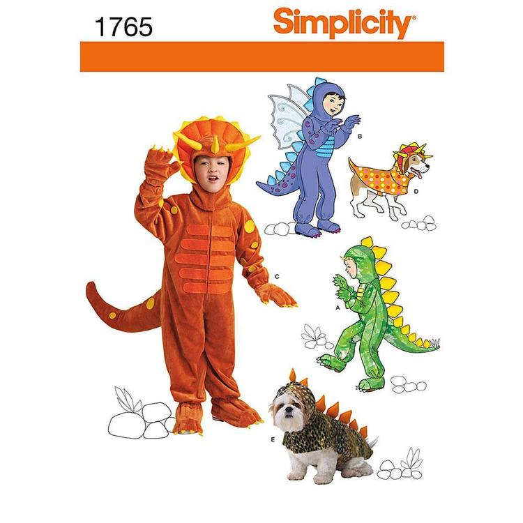 Simplicity Pattern 1765 Kid's And Dog Costume  3 - 8