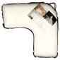 Logan & Mason Australia V Shaped Memory Foam Pillow White V Shaped
