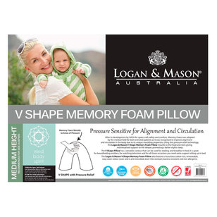 Logan & Mason Australia V Shaped Memory Foam Pillow