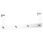Overdoor Rectangle 4 Hook Stainless Steel