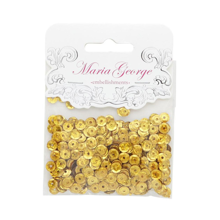 Maria George Hologram Cup Sequins Gold 12 mm