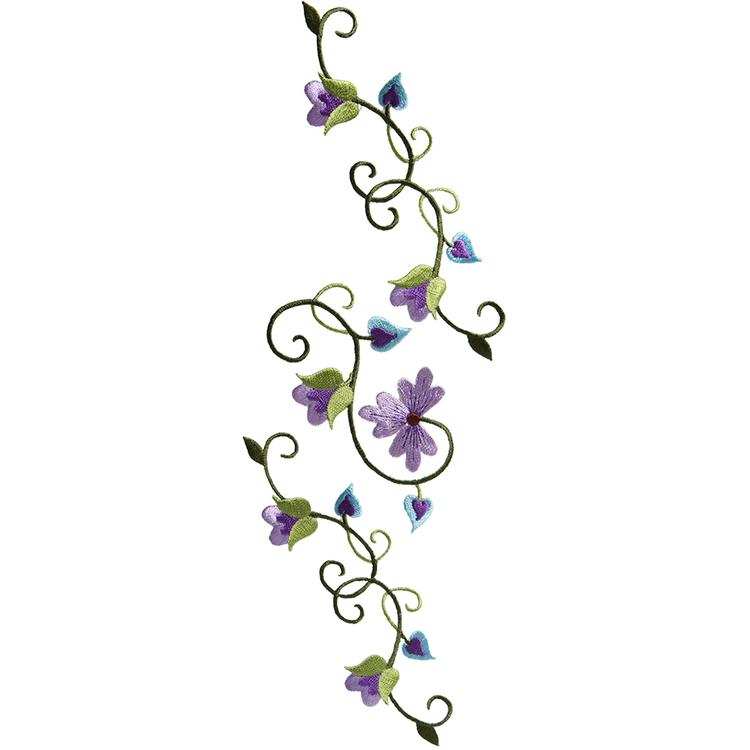 Simplicity Elegant Expressions Bloom Vines Large Applique