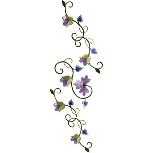 Simplicity Elegant Expressions Bloom Vines Large Applique