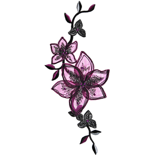 Simplicity Elegant Expressions Trend Flower Blooms Large Applique