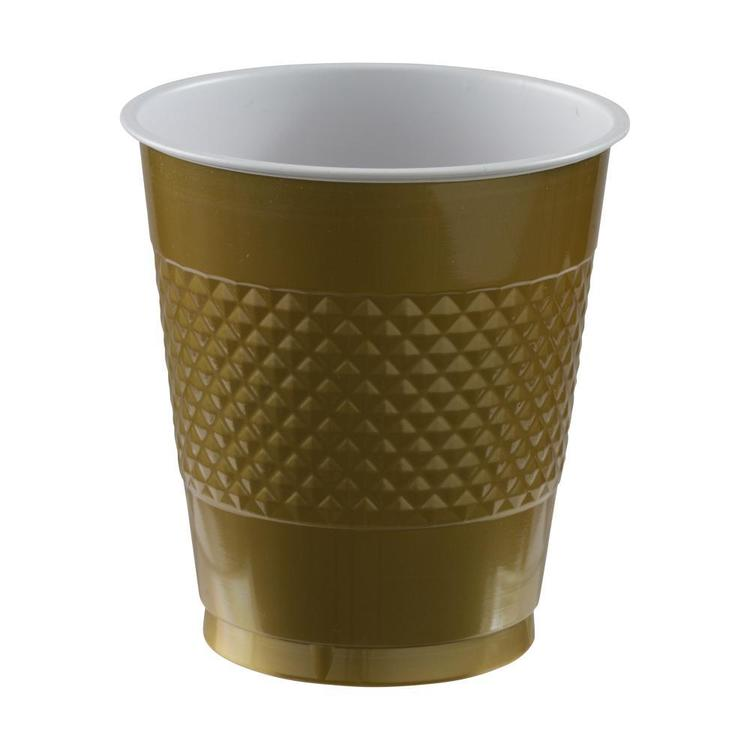 Amscan Gold Plastic Cups