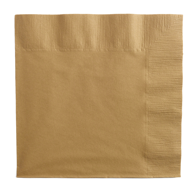 Amscan 2 Ply Gold Lunch Napkins