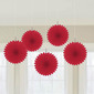 Amscan Mini Fan Decorations 5 Pack