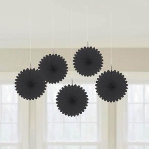 Amscan Mini Fan Decorations 5 Pack - Everyday Bargain