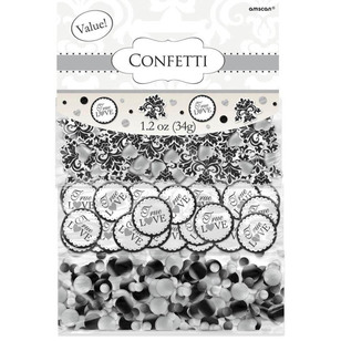 Amscan Black Scroll Confetti Value Pack