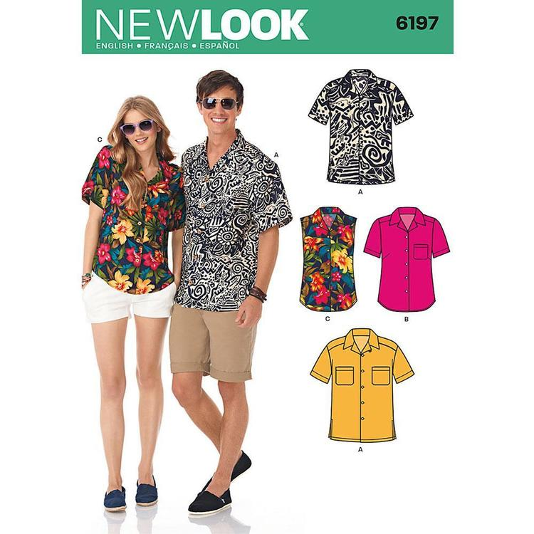 New Look Pattern 6197 Unisex Shirt
