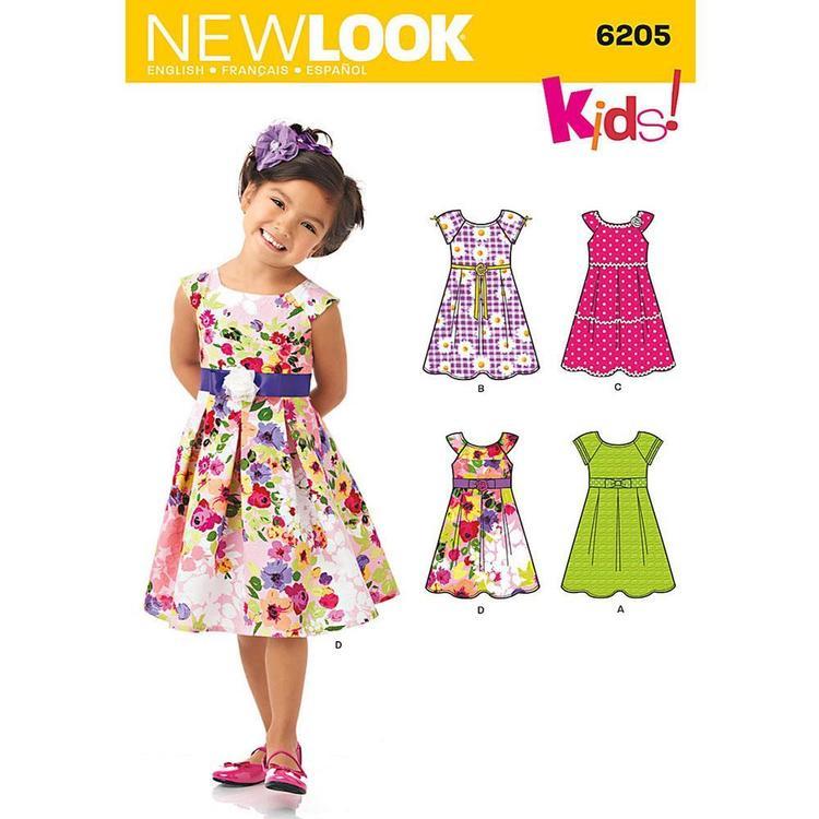 New Look Pattern 6205 Girl's Dress
