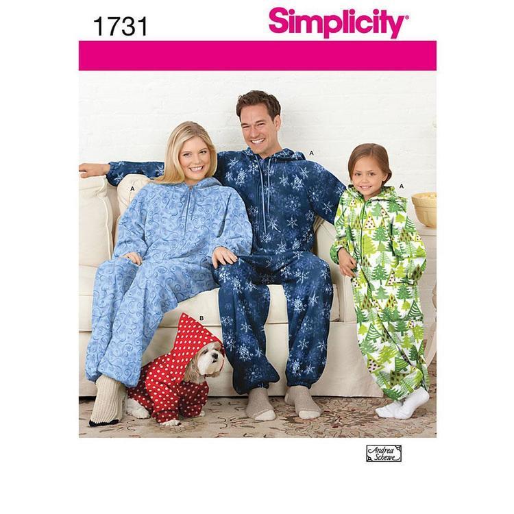Simplicity Pattern 1731 Unisex Sleepwear