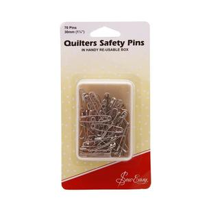 Sew Easy Pins Safety Open Plated