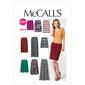 McCalls M6654 Misses' Skirts In 7 Lengths
