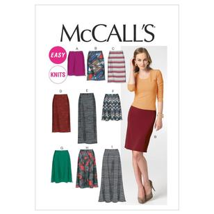 McCall's Pattern M6654 Misses' Skirts In 7 Lengths