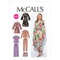 McCall's M6659 Misses' Robe Belt Tops Shorts & Pants