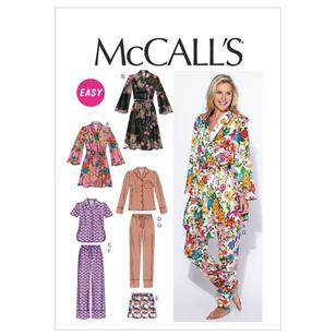 McCall's Pattern M6659 Misses' Robe Belt Tops Shorts & Pants