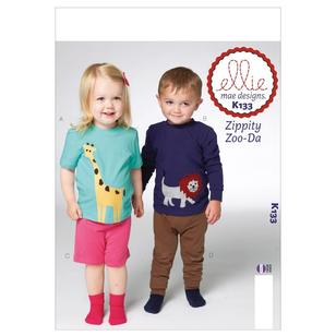 Kwik Sew Pattern K0133 Toddlers' Top Shorts & Pants