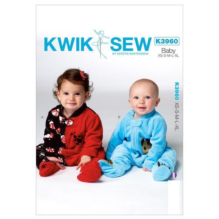 Kwik Sew Pattern K3960 Infants' Sleeper