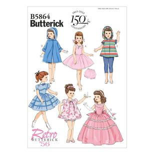 "Butterick Pattern B5864 Clothes For 18"" Doll"