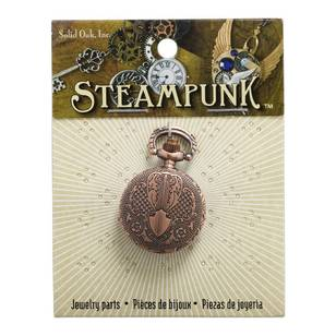 Steampunk Metallic Pocket Watch Pendant