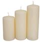 Living Space Bulk Pillar Candle 3 Pack - Everyday Bargain