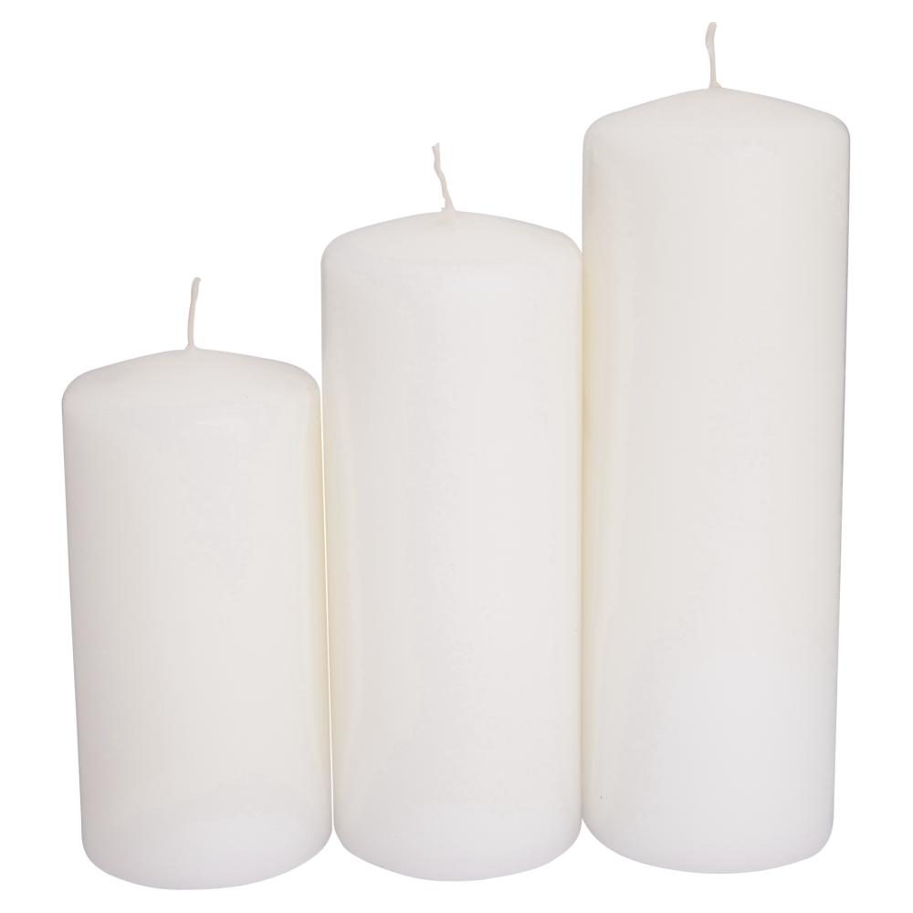 NEW-Living-Space-Bulk-Pillar-Candle-3-Pack-Everyday-Bargain-By-Spotlight