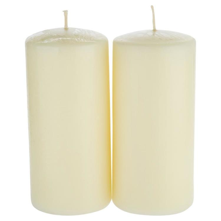 Living Space Bulk Pillar Candle Twin Pack - Everyday Bargain