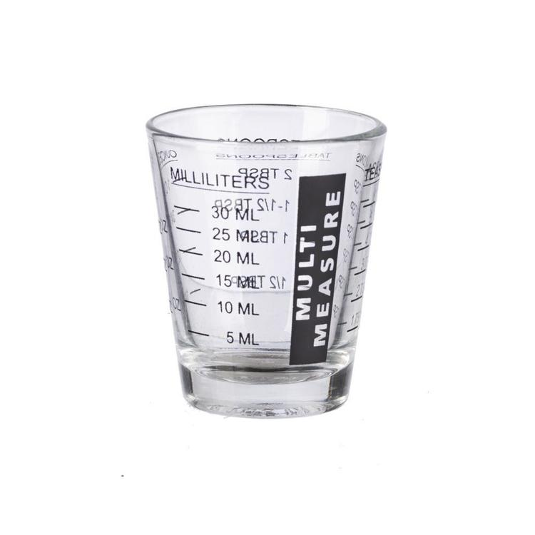 Multi Purpose Measure Glass Clear