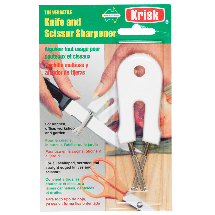 Krisk Knife & Scissors Sharpener White