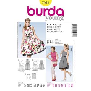 Burda 7054 Women's Dress And Top