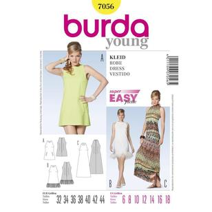 Burda 7056 Women's Dress