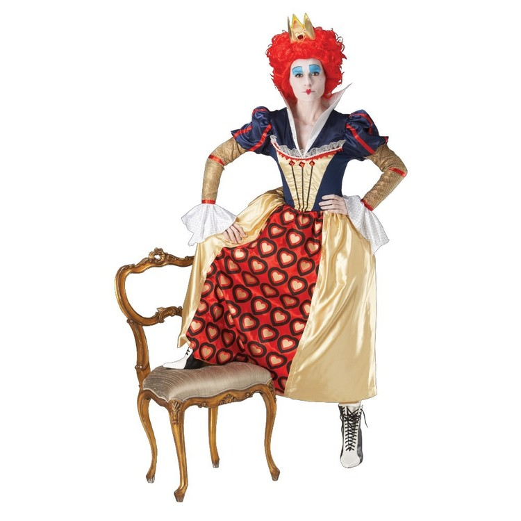 Red Queen Of Hearts Costume Multicoloured Large