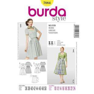 Burda 7084 Women's Dress