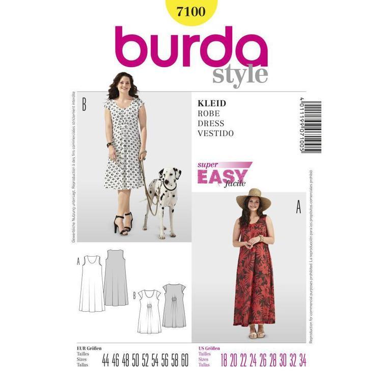 Burda Pattern 7100 Women's Dress