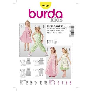 Burda Pattern 9460 Girl's Dress & Jumpsuit