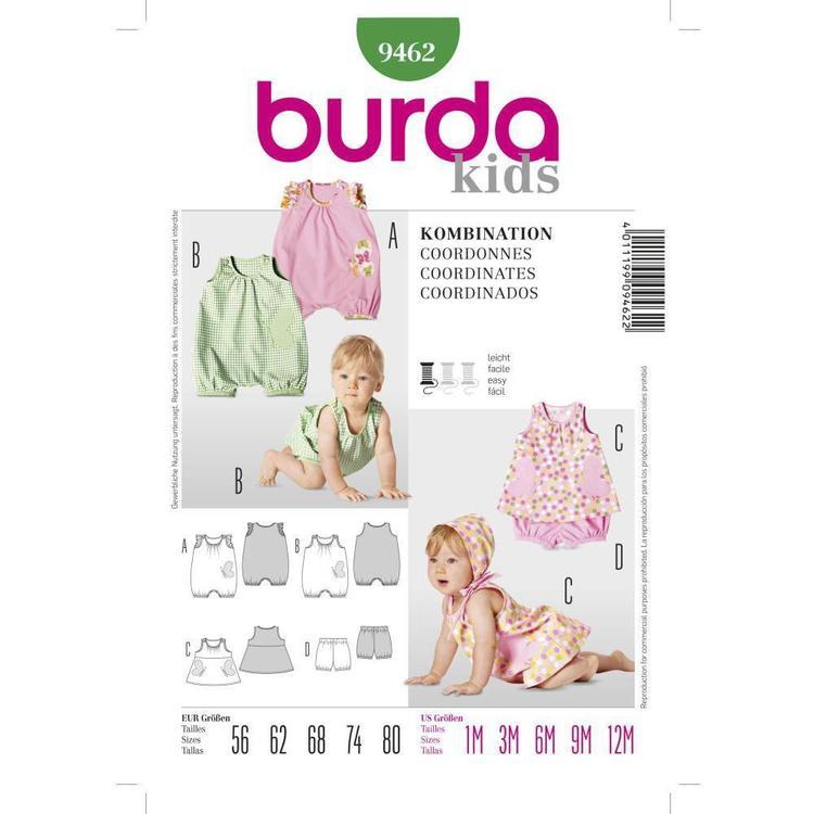 Burda Pattern 9462 Baby Coordinates