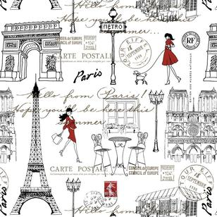 Paris Walk Printed Fabric