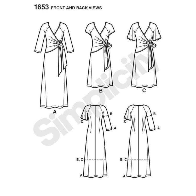Simplicity 1653 Women's Dress