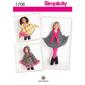 Simplicity 1706 Kid's Cape  Small - Large