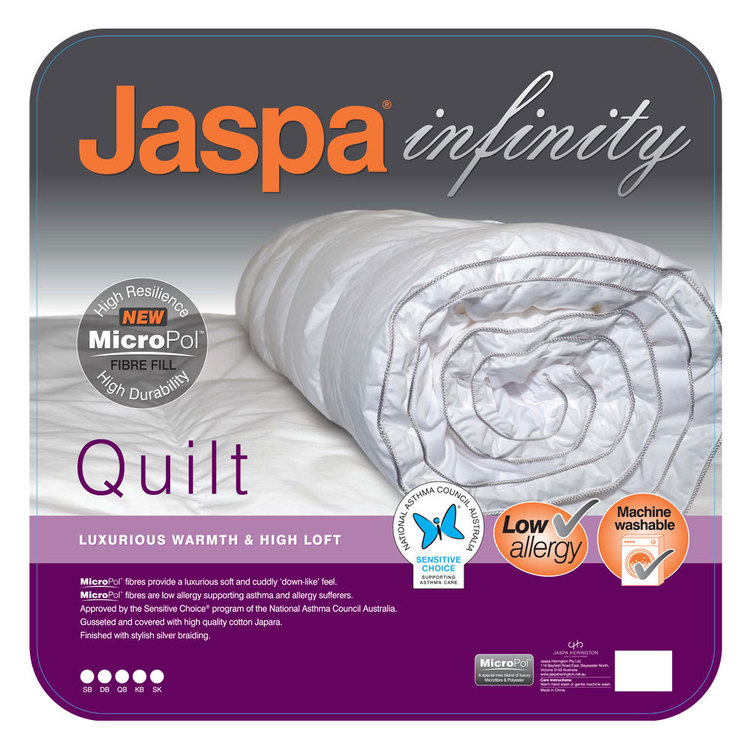 Jaspa Infinity Micropol Quilt White