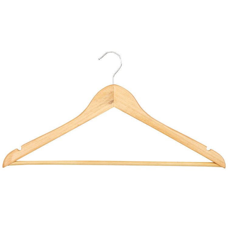 Lock Stock & Barrel Wooden Coat Hanger 8 Set Natural