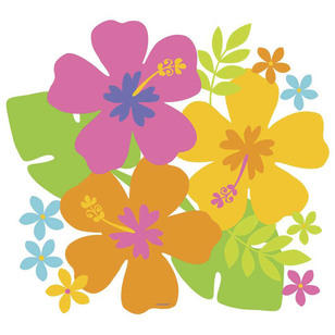 Amscan Summer Luau Hibiscus Cut Outs