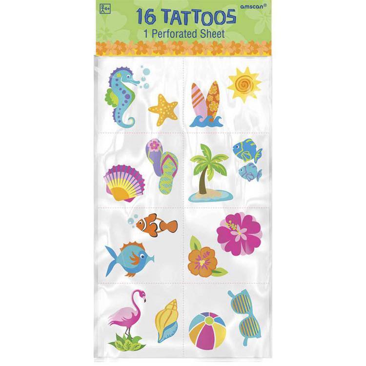 Amscan Summer Luau Tattoos