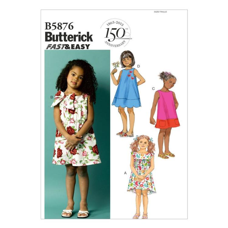 Butterick Pattern B5876 Kids' Dress