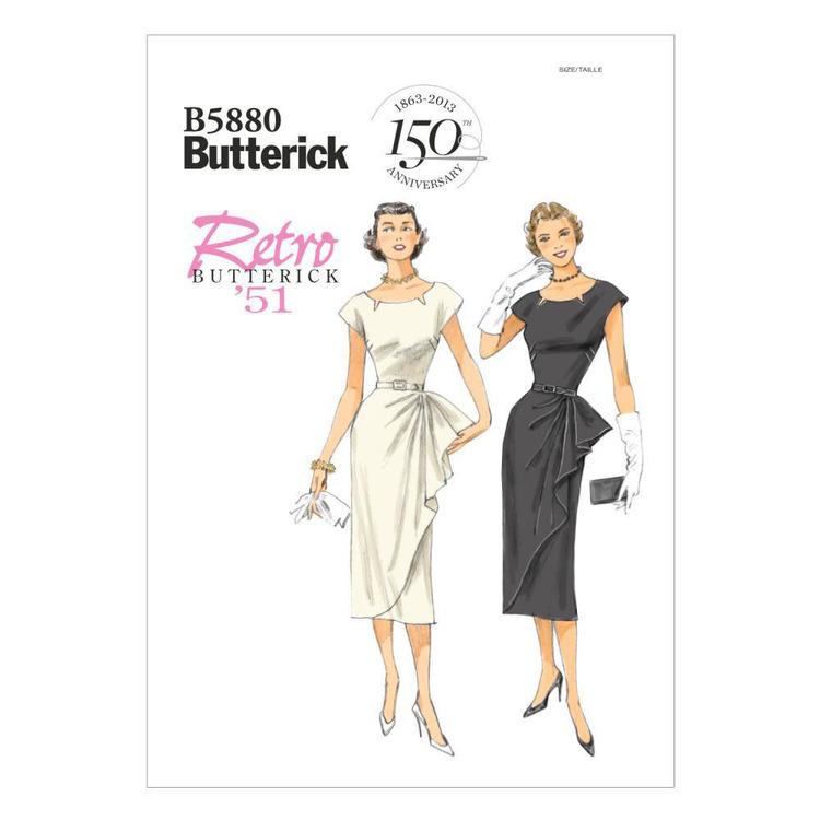 Butterick Pattern B5880 Misses' Petite Dress & Belt