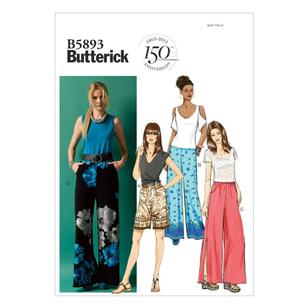 Butterick Pattern B5893 Misses' Shorts & Pants